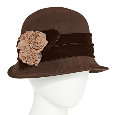 Scala Rose Cloche Hat