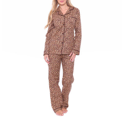 White Mark Flannel 2-pack Plaid Pant Pajama Set