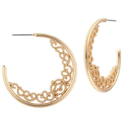Decree 1 1/4 Inch Hoop Earrings