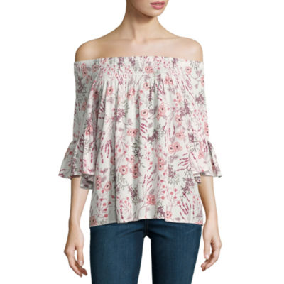 A.N.A 3/4 Sleeve Crew Neck Woven Blouse - Tall