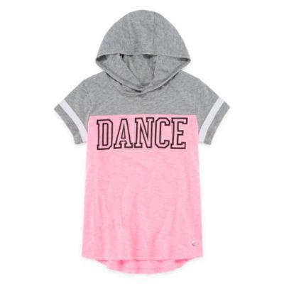 Xersion Short Sleeve Hoodie Graphic Tee - Girls' 7-16