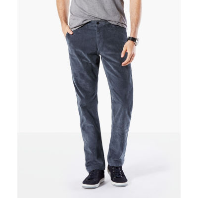 Dockers Dockers Washed Khaki Slim Tapered Fit Pants Mens Slim Fit Flat Front Pant