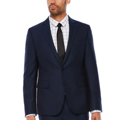 JF J.Ferrar Stripe Classic Fit Stretch Suit Jacket