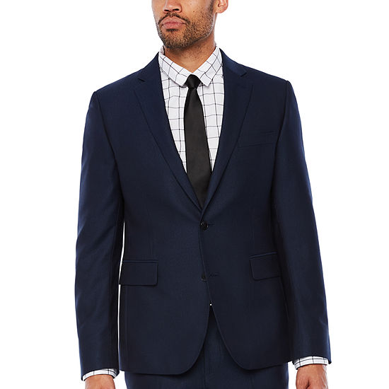 JF J.Ferrar Striped Classic Fit Stretch Suit Jacket