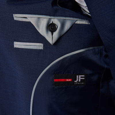 JF J. Ferrar® Dark Blue Texture Jacket-Slim