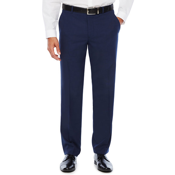 JF J.Ferrar Mens Stretch Slim Fit Suit Pants