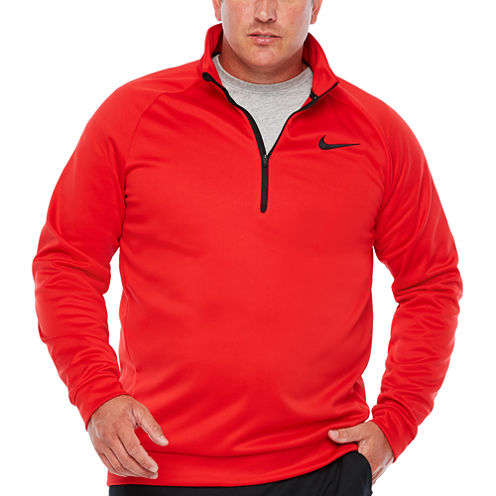 Nike Mens Quarter-Zip Thermal Pullover Big and Tall