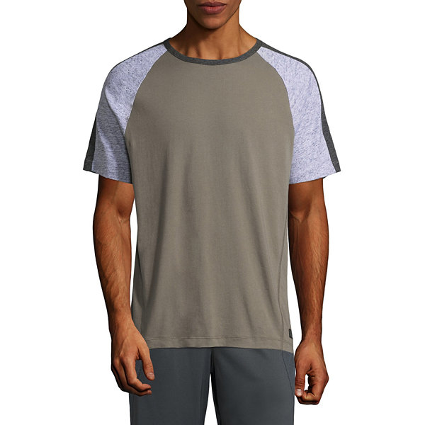 Msx By Michael Strahan Brushed Cotton Color Blocked Short Sleeve Crew Neck T-Shirt