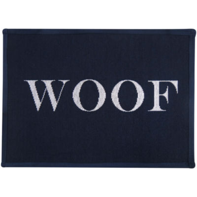 "P. B. Paws by Park B. Smith® 13"" x 19"" Dog Woof Tapestry Pet Mat"