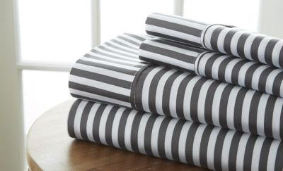 Casual Comfort™ Premium Ultra Soft Ribbon Pattern Microfiber Wrinkle Free Sheet Set