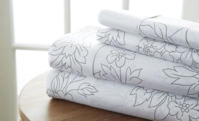 Casual Comfort™ Premium Ultra Soft Vine Pattern Microfiber Wrinkle Free Sheet Set