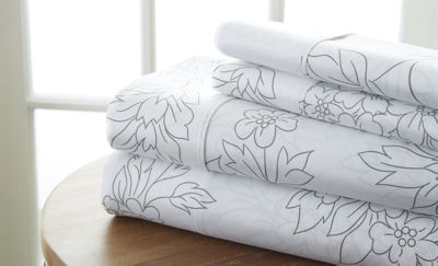 Casual Comfort™ Premium Ultra Soft Vine Pattern Microfiber Wrinkle Free Sheet Set