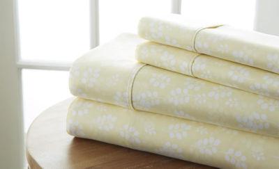 Casual Comfort™ Premium Ultra Soft Wheat Pattern Microfiber Wrinkle Free Sheet Set