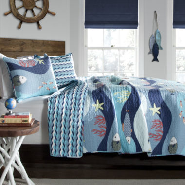 Lush Decor Lush Decor Sea Life Quilt Set