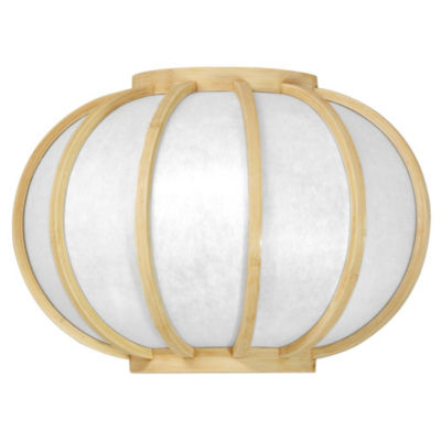 "Oriental Furniture 13.5"" Harajuku Design Round Wall Sconce"