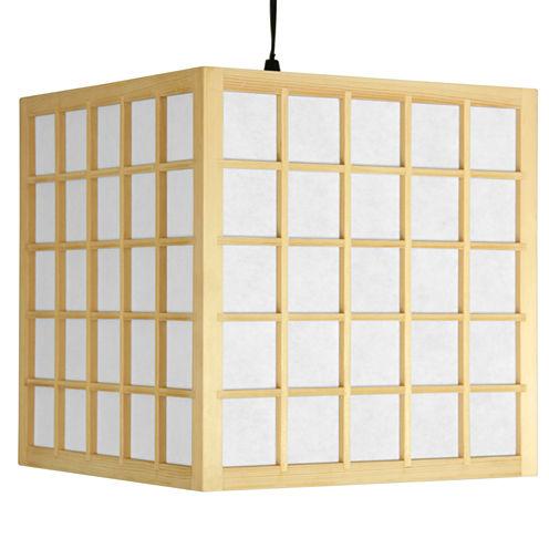 """Oriental Furniture 12.5"""" Japanese Window Pane Hanging Lantern"""