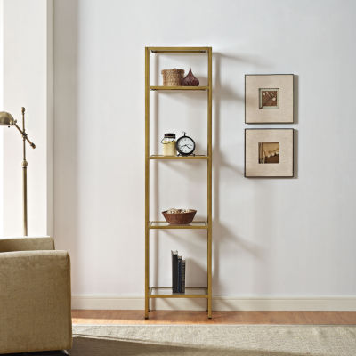 Aimee Narrow Etagere Bookcase
