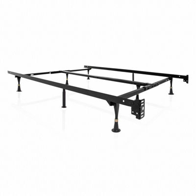 Malouf Structures Universal Adjustable Metal Bed Fame with Glides
