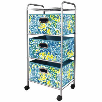 Bintopia™ 3-Drawer Rolling Trolley Storage Cart
