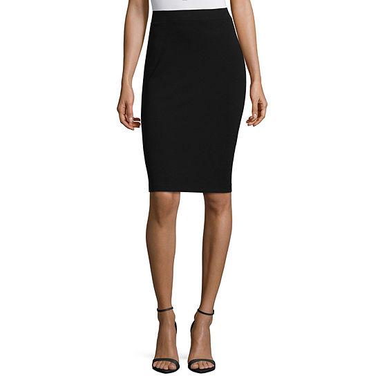 Liz Claiborne Womens Stretch Pencil Skirt