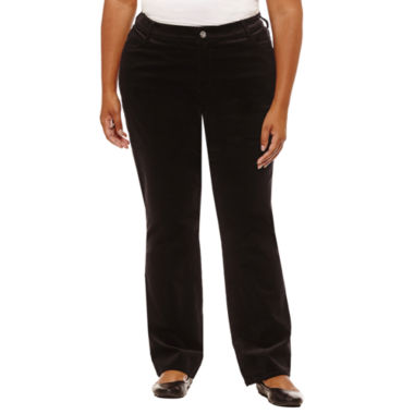 "St. John's Bay Straight Leg Corduroy Pant-Plus (31""/29"" Short)"