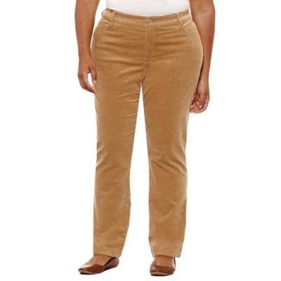 St. John's Bay® Straight Leg Corduroy Pant - Plus