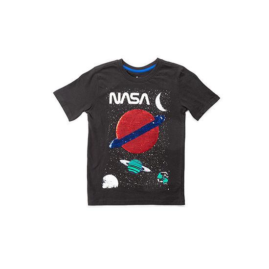 Hollywood Big Boys Crew Neck Short Sleeve Graphic T-Shirt