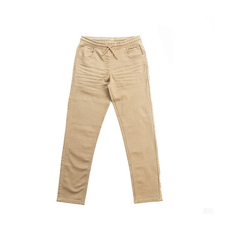 Hollywood Knit Twill Big Boys Straight Flat Front Pant, Large (14-16) , Beige