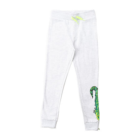 Seven Oaks Critter Little Boys Knit Jogger Pant, 4 , Gray