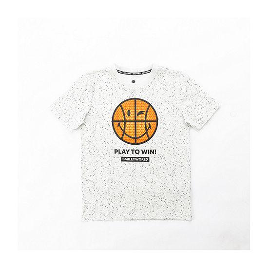 Smiley World Big Boys Crew Neck Short Sleeve Graphic T-Shirt