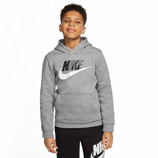 Nike Big Boys Fitted Sleeve Hoodie