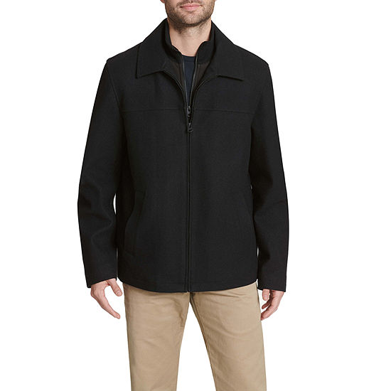 Dockers Wool Blend Car Coat with Bib