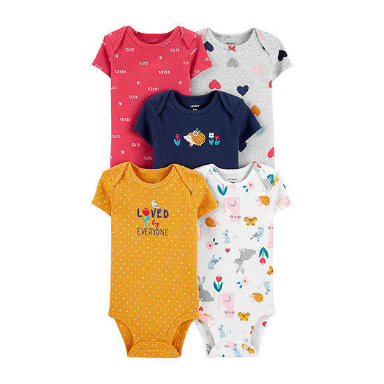Carter's Little Baby Basic Baby Girls 5-pc. Bodysuit