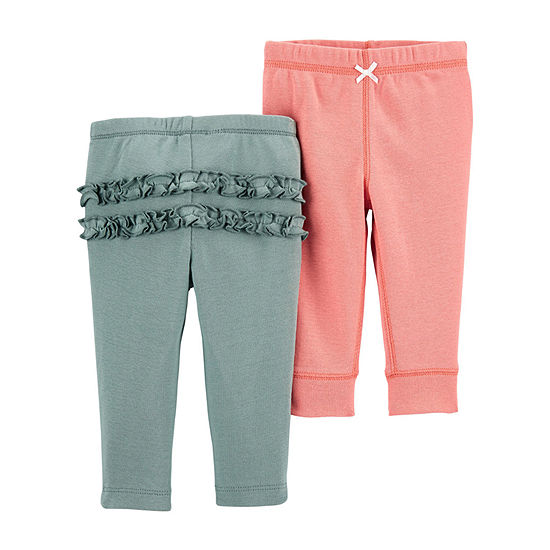 Carter's Little Baby Basic Baby Girls 2-pc. Skinny Pull-On Pants