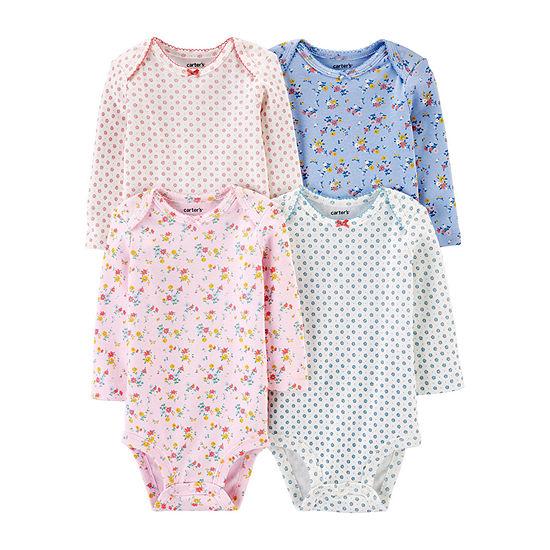 Carter's Little Baby Basic Baby Girls 4-pc. Bodysuit