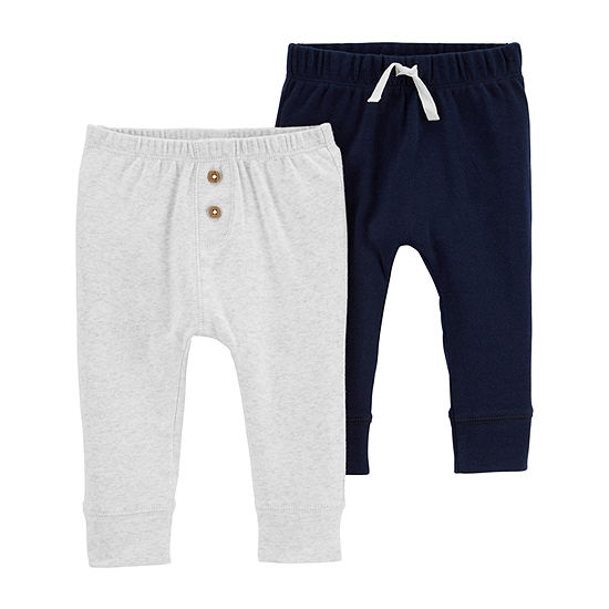 Carter's Little Baby Basic Baby Boys 2-pc. Skinny Pull-On Pants