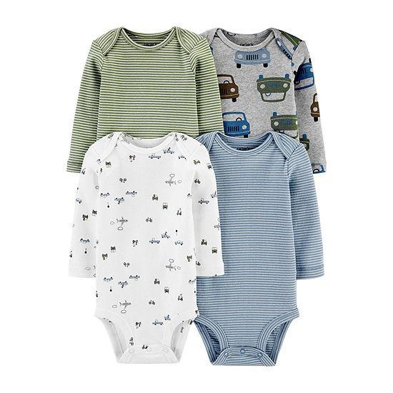 Carter's Little Baby Basic Baby Boys 4-pc. Bodysuit