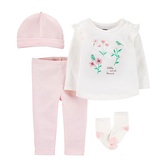 Carter's Baby Girls 4-pc. Pant Set