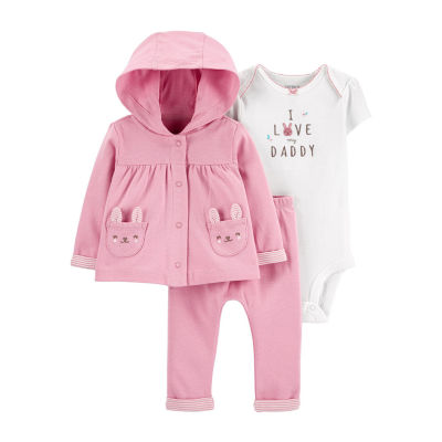 Carter's Baby Girls 3-pc. Pant Set