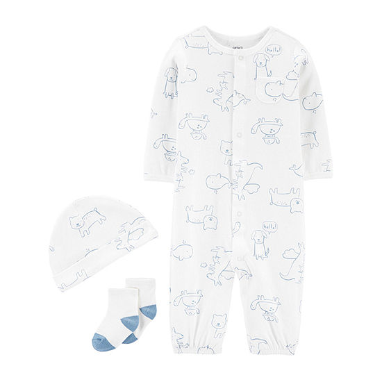 Carter's Converter Gown Baby Unisex Long Sleeve One Piece Pajama