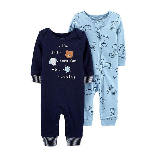 Carter's Baby Boys Long Sleeve 2-pc. Jumpsuit