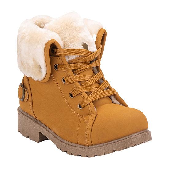 Olivia Miller Little Kids Girls Lace Up Boots