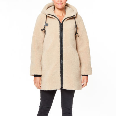 a.n.a Hooded Midweight Faux Fur Coat