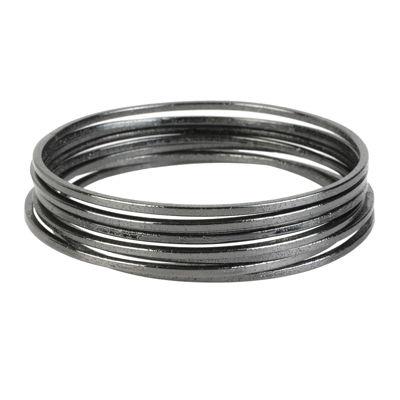 Worthington® Silver-Tone Bangle Bracelet Set