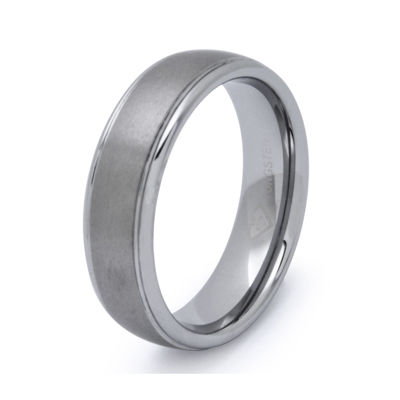 Personalized Mens 6mm Comfort Fit Tungsten Carbide Wedding Band