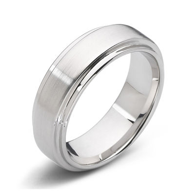 Personalized Mens 8mm Comfort Fit Tungsten Carbide Wedding Band