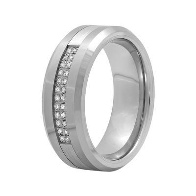 TW Diamond 8mm Tungsten Carbide Wedding Band