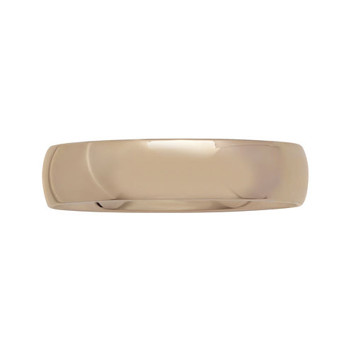 Personalized Mens 5mm Comfort Fit 10K Rose Gold Wedding Band