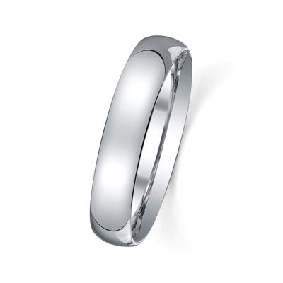 Personalized 4mm Comfort Fit Domed Sterling Silver Wedding Band
