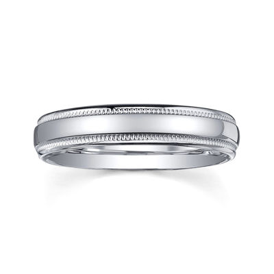 Personalized Comfort Fit 4mm Sterling Silver Wedding Band